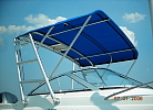 Radar arch with Bimini Top